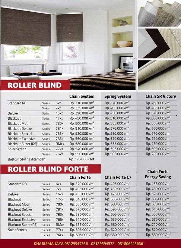 Harga Roller Blinds Shinichi Blinds