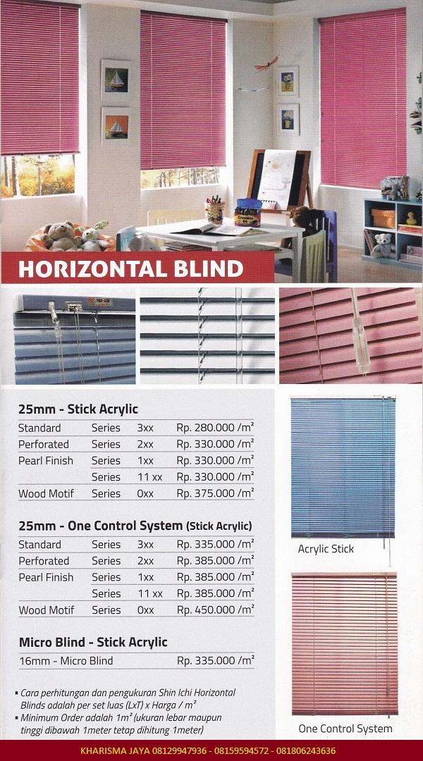 Harga Horizontal Blind Shinichi Blinds