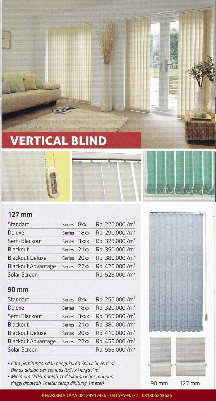 Harga Vertical Blinds Shinichi Blinds